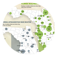 Florida soldier deaths Data visualization infographics teaser thumbnail image link