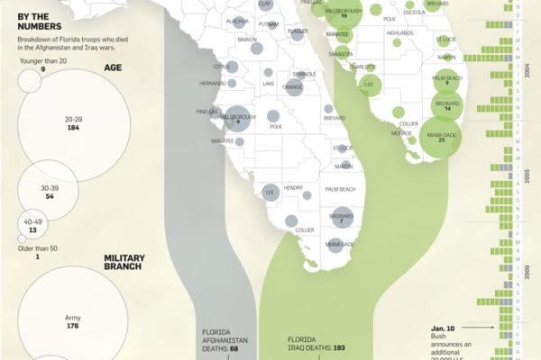Florida War Deaths Data Visual