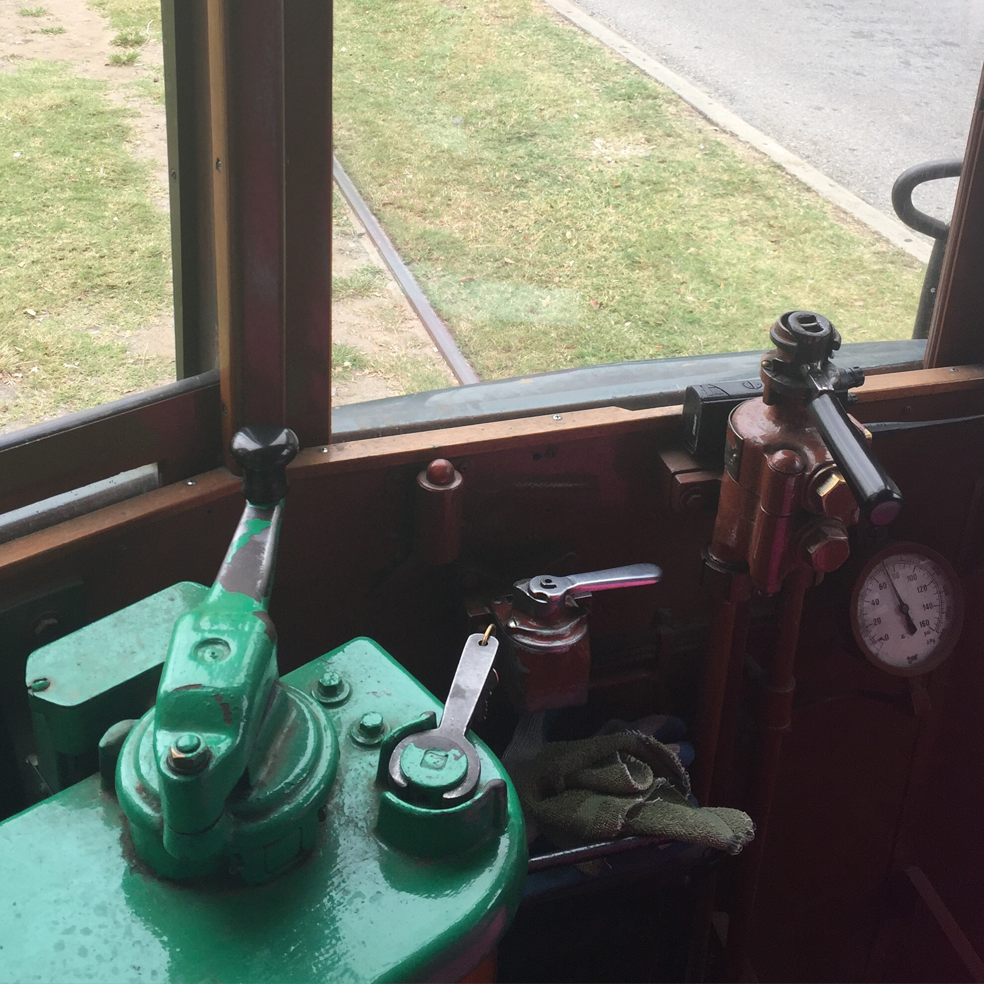 picture of trolley car controls