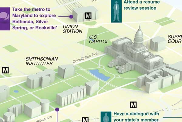 The D.C. Internship Experience infographic