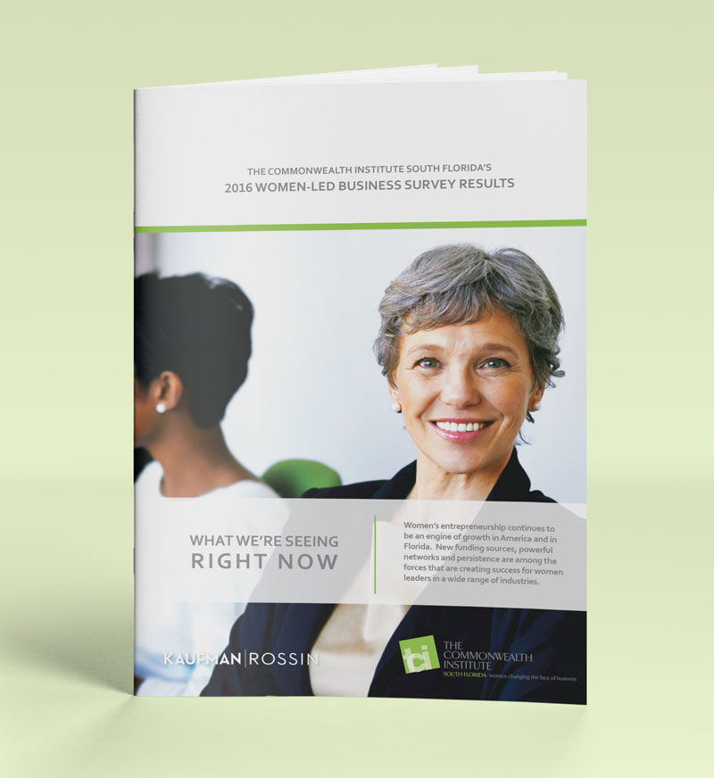 2016 Women-Led Business Survey Results brochure
