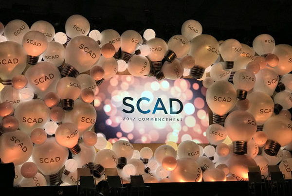 SCAD 2017 commencement stage